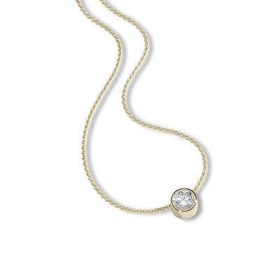 Halskette 375/- Gold Zirkonia