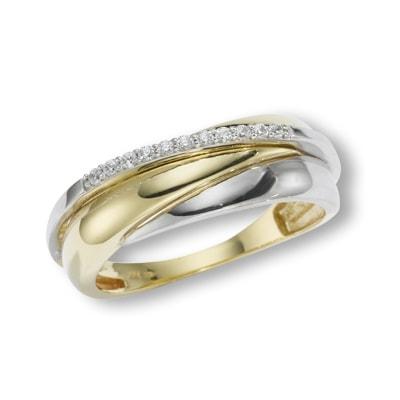Damenring 375/- Gold Zirkonia