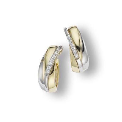 Creolen 375/- Gold Zirkonia