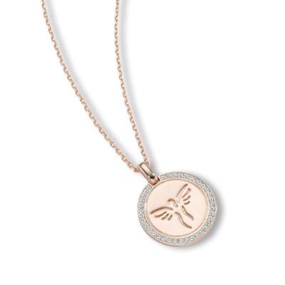 Halskette 925/- Sterling Silber Rosé