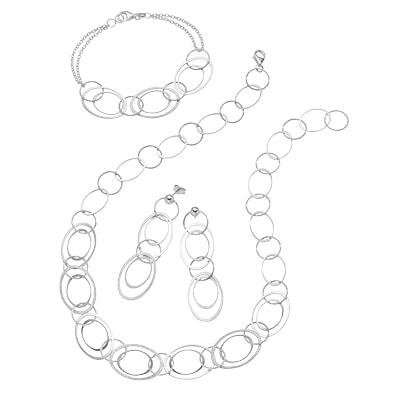 Set aus Halskette, Armband, Ohrstecker 925/- Sterling Silber